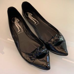 Belle by Siegerson Morrison Point Toe Patent Flats